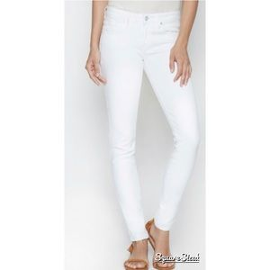 Joie mid-rise skinny jeans in dandelion white 25